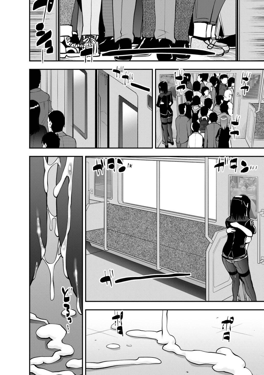 電車の中でショタ男子とリモコンバイブ調教し合ってイキまくる変態美人メガネOL…黒ストッキングにザーメンをぶっかけられたあとお掃除フェラしてヌキまくり、生ハメ中出しおねショタ電車セックスして連続アクメ【シン・普禅:精通快速!トレイン 最終話】